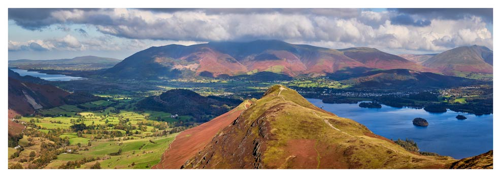 Cat Bells Panorama - Lake District Print