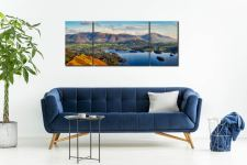 Keswick to Skiddaw - 3 Panel Wide Mid Canvas on Wall