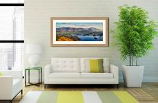 Keswick to Skiddaw - Framed Print with Mount on Wall
