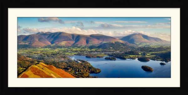 Keswick to Skiddaw - Framed Print with Mount