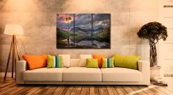Buttermere Sunrise - 3 Panel Canvas on Wall