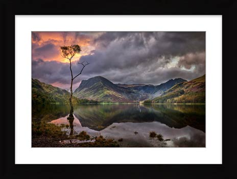 Buttermere Sunrise - Framed Print with Mount