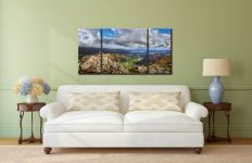 Harrison Stickle Summit View - 3 Panel Wide Centre Canvas on Wall
