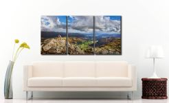 Harrison Stickle Summit View - 3 Panel Canvas on Wall