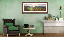 Glorious Great Langdale - Framed Print with Mount on Wall