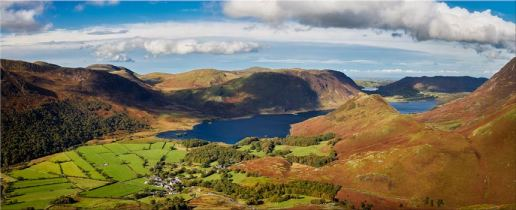 Buttermere Village Crummock Water - Lake District Canvas