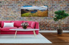 Buttermere Village Crummock Water - Print Aluminium Backing With Acrylic Glazing on Wall
