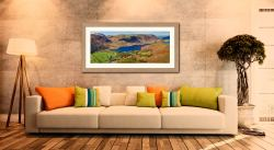 Contemplating Crummock Water - Framed Print with Mount on Wall