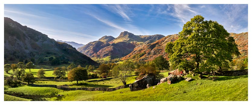 Summer in Great Langdale - Lake District Print