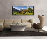 Summer in Great Langdale - Black oak floater frame with acrylic glazing on Wall