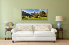 Summer in Great Langdale - Oak floater frame with acrylic glazing on Wall