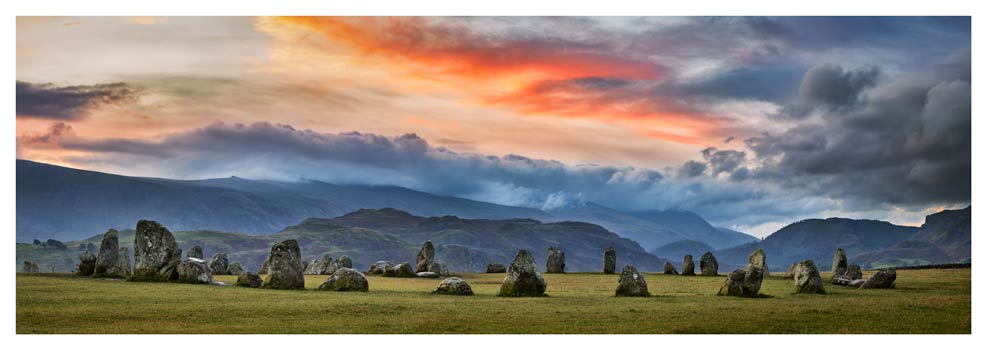 Dawn Skies Over Castlerigg - Prints of the Lake District