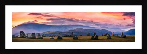 Castlerigg Sunrise - Framed Print with Mount