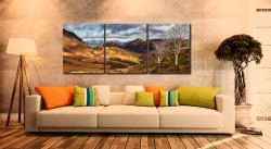 Kings How and Castle Crag - 3 Panel Canvas on Wall