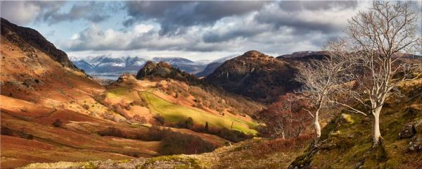 Kings How and Castle Crag - Canvas Print