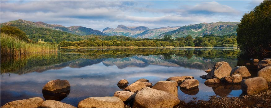 Elterwater Summer Reflections - Lake District Canvas