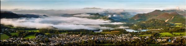 Misty Summer Morning Over Derwent Water - Canvas Print