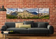 Langdale Pikes and Pavey Ark - 3 Panel Wide Centre Canvas on Wall