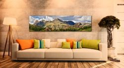 Langdale Pikes and Pavey Ark - Print Aluminium Backing With Acrylic Glazing on Wall