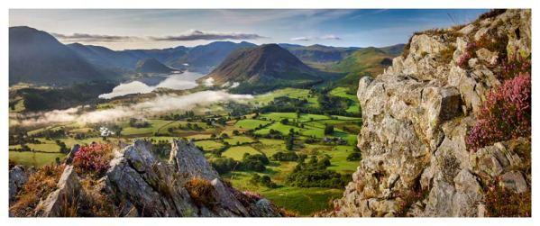 Heather Rocks Crummock - Lake District Print