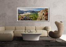 Blea Tarn Summer Panorama - White Maple floater frame with acrylic glazing on Wall