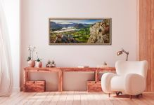 Blea Tarn Summer Panorama - Oak floater frame with acrylic glazing on Wall