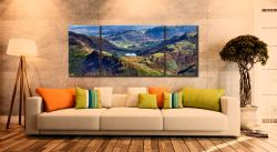 Blea Tarn from Langdale Pikes - 3 Panel Wide Mid Canvas on Wall