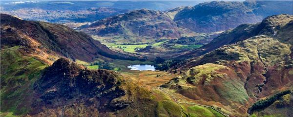 Blea Tarn from Langdale Pikes - Canvas Print