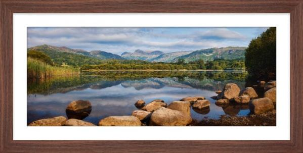 Elterwater Summer Reflections - Framed Print with Mount