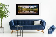 Blea Tarn Summer Panorama - Framed Print with Mount on Wall