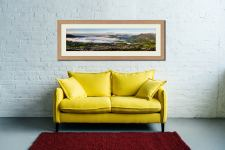 Misty Summer Morning Over Derwent Watere - Framed Print with Mount on Wall