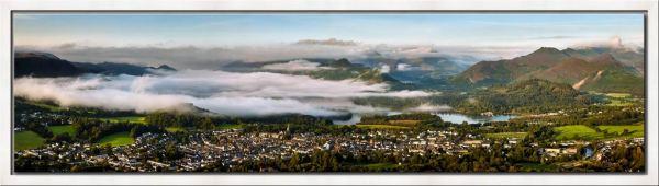 Misty Summer Morning Over Derwent Water - Modern Print