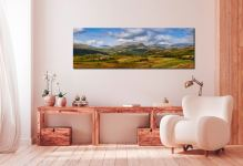 View of the Sca Fell Range over Eskdale from Birker Fell - Print Aluminium Backing With Acrylic Glazing on Wall