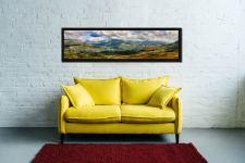 Sunlight on the Eskdale Fells - Black oak floater frame with acrylic glazing on Wall