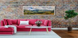 Sunlight on the Eskdale Fells - White Maple floater frame with acrylic glazing on Wall