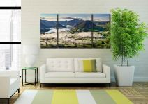 Mellbreak Morning Mists - 3 Panel Wide Centre Canvas on Wall