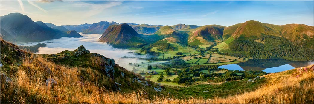 Low Fell Panorama - Canvas Print