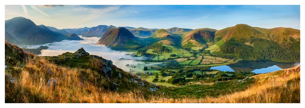 Low Fell Panorama - Lake District Print