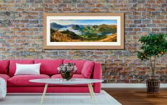 Low Fell Panorama - Framed Print with Mount on Wall