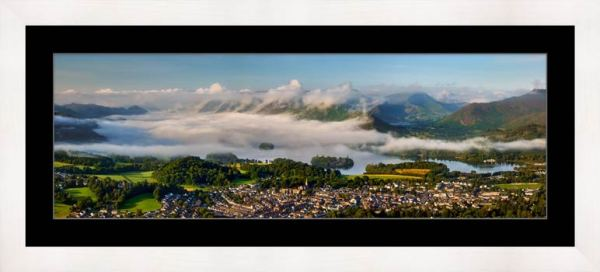 Derwent Water Cloud Inversion - Framed Print with Mount