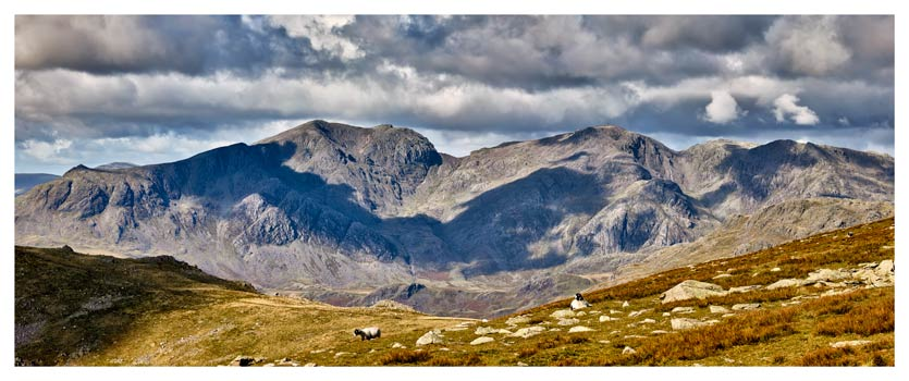 Scafell Pike from the Coniston Fells - Lake District Print