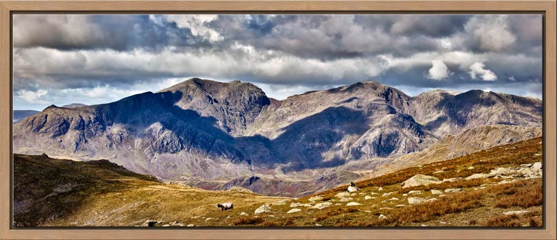 Scafell Pike from the Coniston Fells - Modern Print