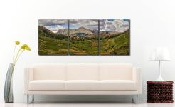 Langdale Pikes from Little Langdale - 3 Panel Canvas on Wall