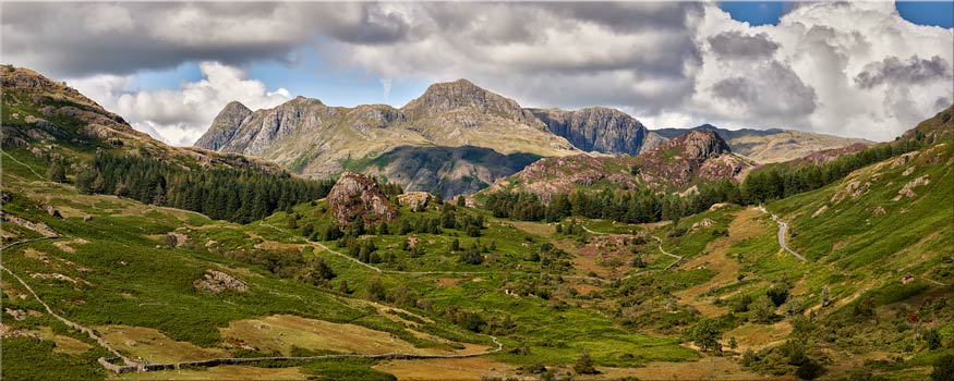 Langdale Pikes from Little Langdale - Lake District Canvas
