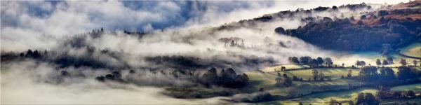 Coniston Moor in the Mist - Canvas Print