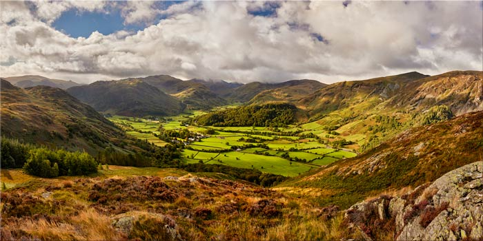 Borrowdale the Green Valley - Canvas Print
