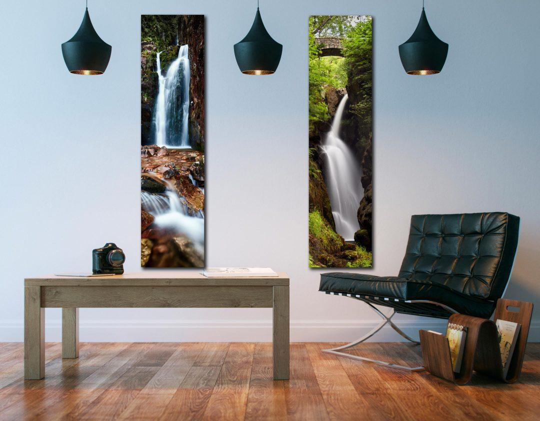 Canvas Waterfalls 1:4 room