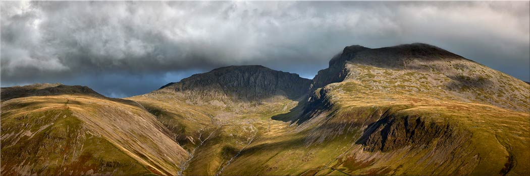 Sca Fell and Lingmell Mountains - Canvas Print