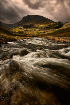 Stormy Day at Grains Gill - Lake District Canvas