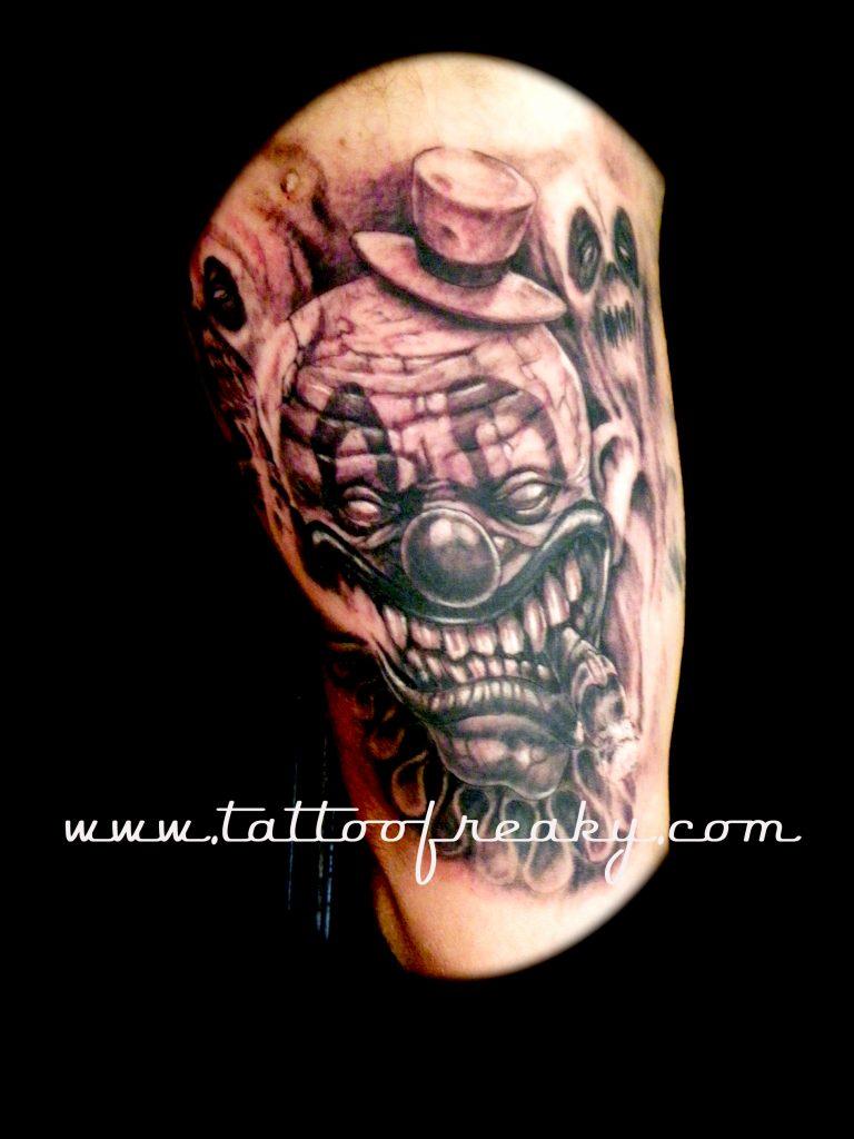 Clown tattoo New Zealand